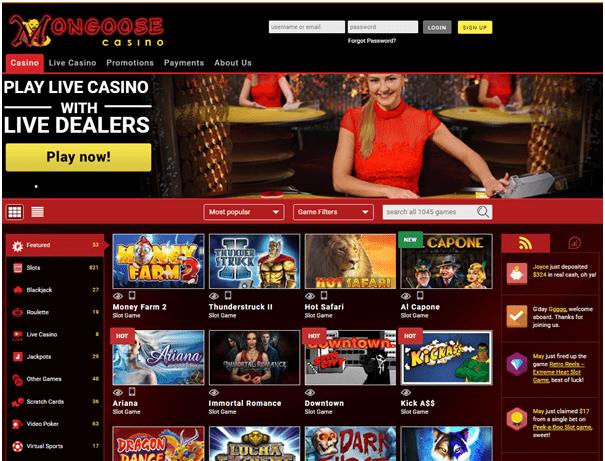 Mongoose casino