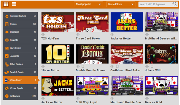 Jacks or Better at Emu Casino